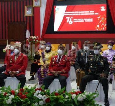Bupati dan Wakil Bupati Sanggau Beserta Forkompimda Ikuti Upacara Peringatan HUT RI ke-76 Secara Virtual