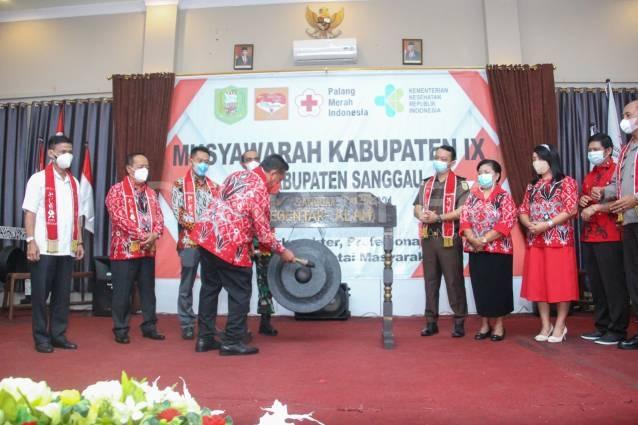 Musyawarah Kabupaten IX PMI Kabupaten Sanggau Resmi Dibuka Oleh Bupati Sanggau