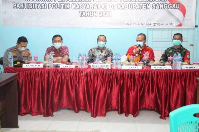 Penyuluhan Partisipasi Politik Masyarakat Di Desa Balai Belungai, Ini Pesan Wabup Sanggau