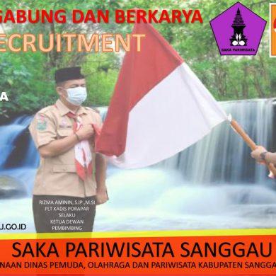 Penerimaan Anggota Saka Pariwisata Kabupaten Sanggau