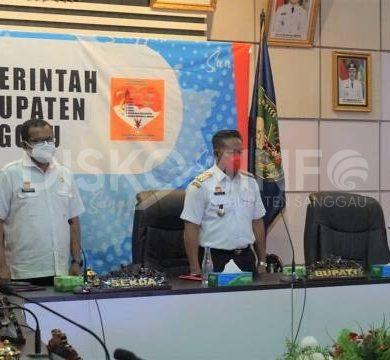 Bupati Sanggau Ikuti Rakornas Pengendalian Inflasi 2021 Secara Virtual