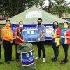 DISPERINDAGKOP dan BPBD Kabupaten Sanggau Menerima Bantuan Tenda Dari Indomaret