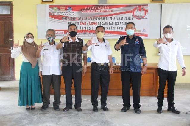 Sosialisasi Pengelolaan Pengaduan Pelayanan Publik melalui SP4N-LAPOR Di Kecamatan Sekayam, Ini Pesan Kadis Kominfo Sanggau