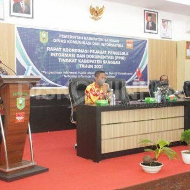 Rakor PPID Tingkat Kabupaten Sanggau Tahun 2021, Ini Pesan Bupati Sanggau
