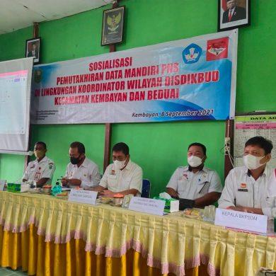 Sosialisasi Pemuktahiran Data Mandiri PNS di Lingkungan Koordinator Wilayah Dinas Pendidikan dan Kebudayaan Kecamatan Kembayan dan Beduai
