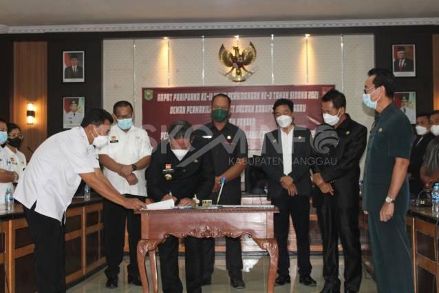 Bupati Sanggau Tandatangani Nota Kesepakatan Perubahan KUA-PPAS APBD Tahun Anggaran 2021