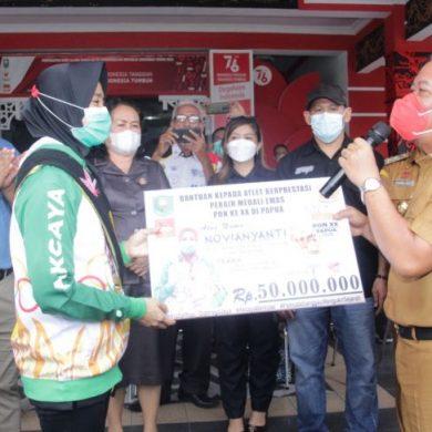 Novian Yanti, atlit Tarung Derajat peraih emas PON XX Papua dapat bonus Rp 50 juta